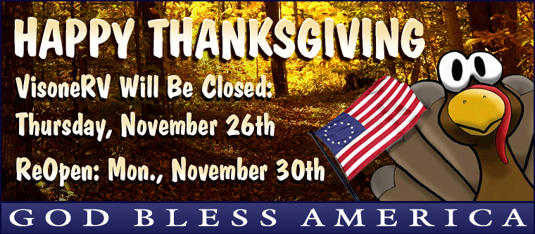 VisoneRV Used RV Parts Holiday Hours